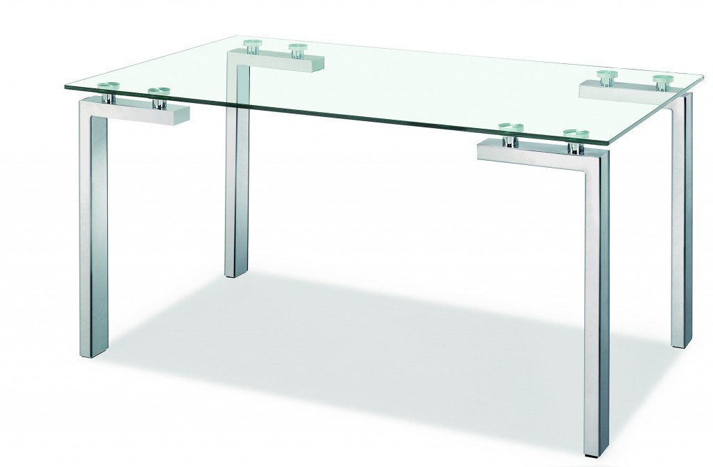 Table LAINEY, Stainless Steel, Crystal, 140x80 Cms