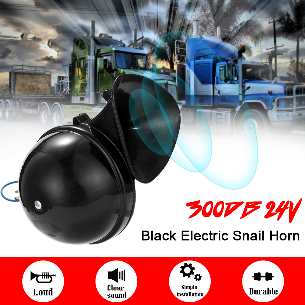 Громкий 300 дБ, 12 В, черный цвет, Электронная улитка, телефон со звуковым сигналом для автомобилей, мотоциклов, грузовиков, лодок, автомобильны...