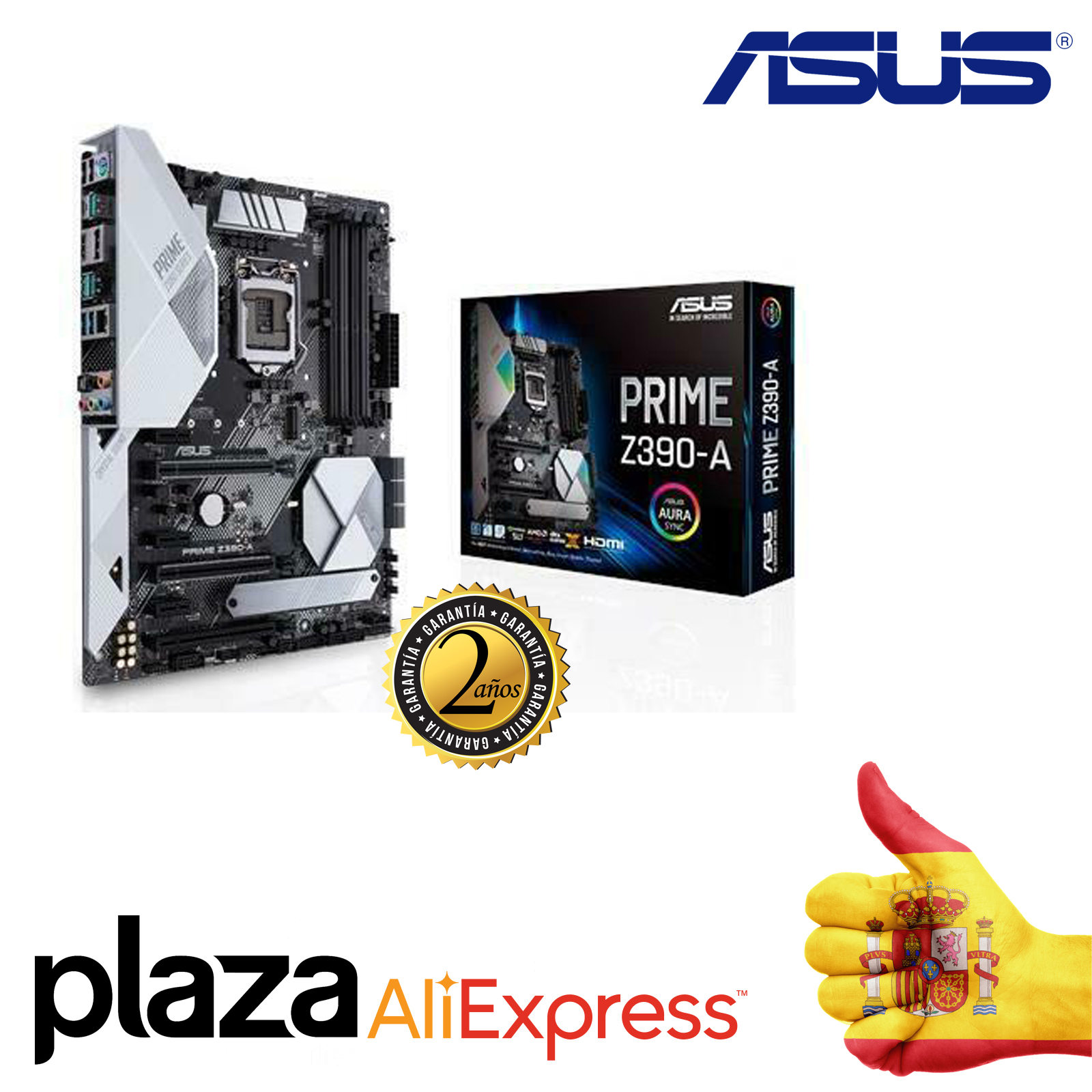 Motherboard Asus Intel Prime Z390-a Socket 1151 Ddr4x4 Max 64 GB 4266 MHz Display