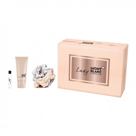 MONTBLANC LADY EMBLEM EDP 75ML + BODY LOTION 100ML + MIN