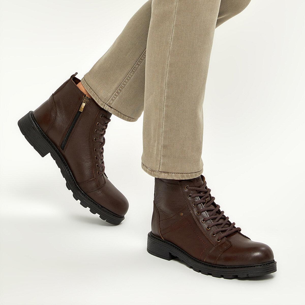FLO BARROW 9PR Brown Men Boots KINETIX