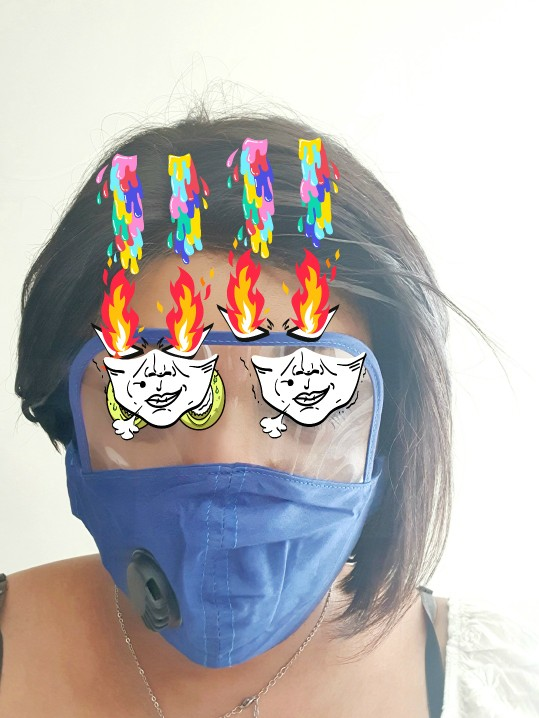 Huistech™  2020 Nieuw Katoenen Masker met Oogschild photo review