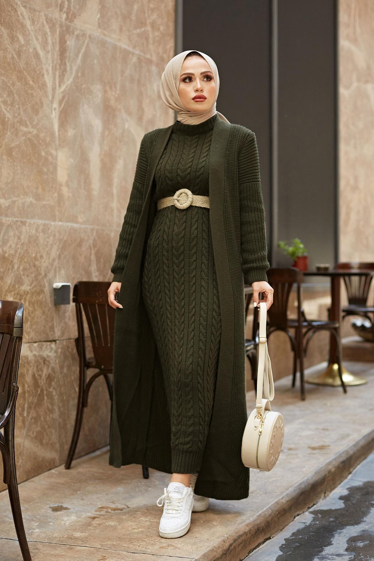 2 Pieces Woman Dress Knitted suit,New version, Color options,thick warm women's dress,Islamic Clothing,Muslim clothings,Turkey Women Women's Clothings Women's Dresses cb5feb1b7314637725a2e7: Anthracite|Beige|Brick|Camel|Fuchsia|Indigo|Light blue|Pine Green|Powder|ROSE|TAN|black|Navy blue|Sky Blue