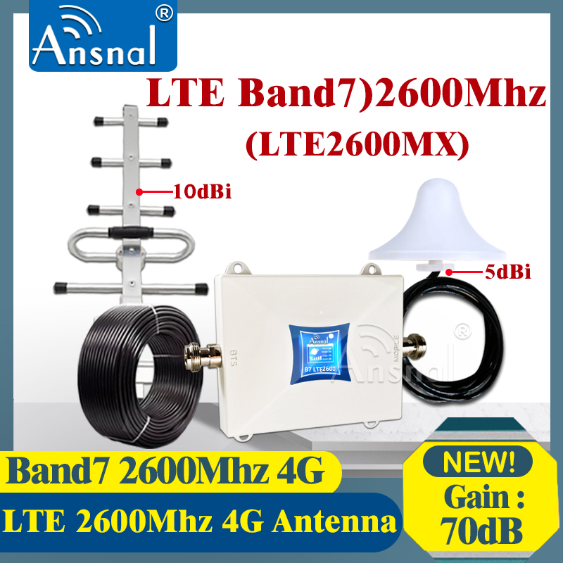 New!!LTE 2600Mhz 4G Cellular Booster B7 LTE FDD 2600Mhz 4G Network Mobile Phone Cellular Amplifier 4G CellPhone Signal Repeater