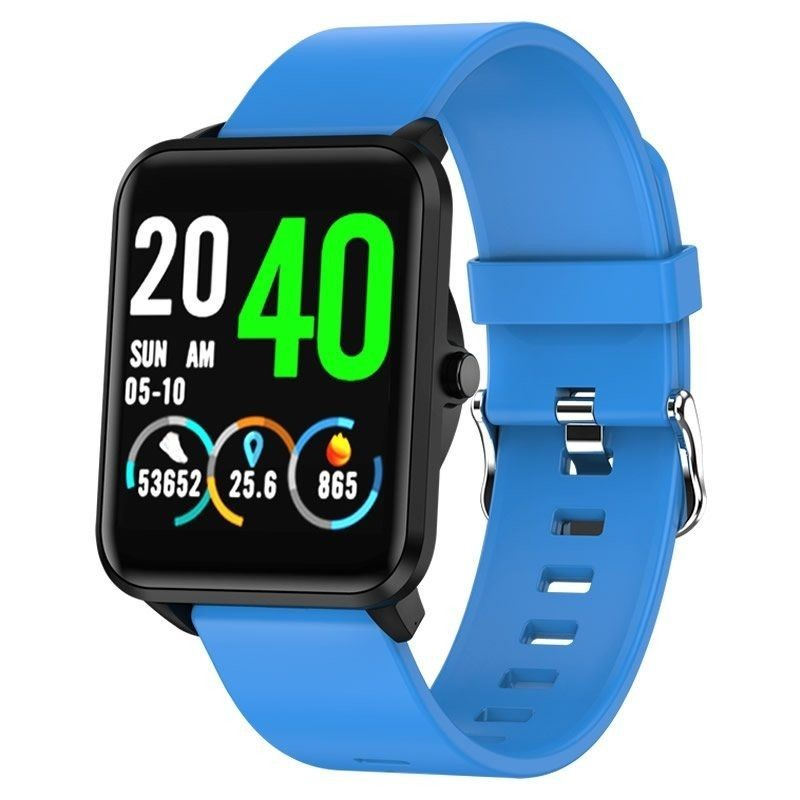 Smart Watch Leotec Funny Black & Blue-touch Screen Color 3.3cm - Bt-multisport-pulsometer-oximetro-ip67-