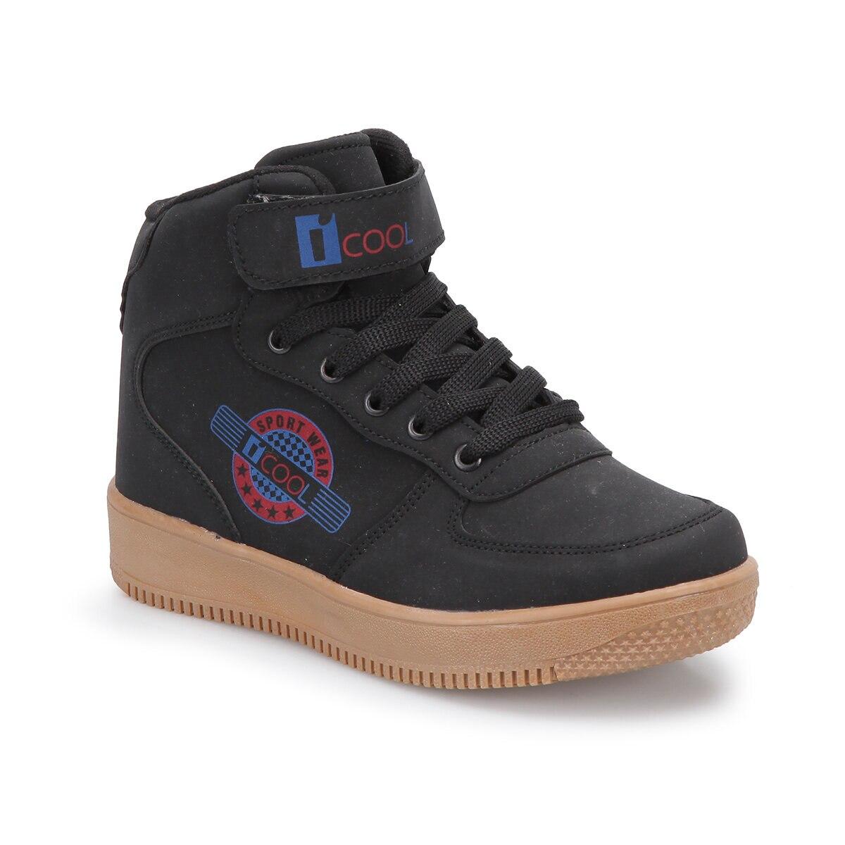 FLO FLASH HI Black Male Child Sneaker Shoes I-Cool