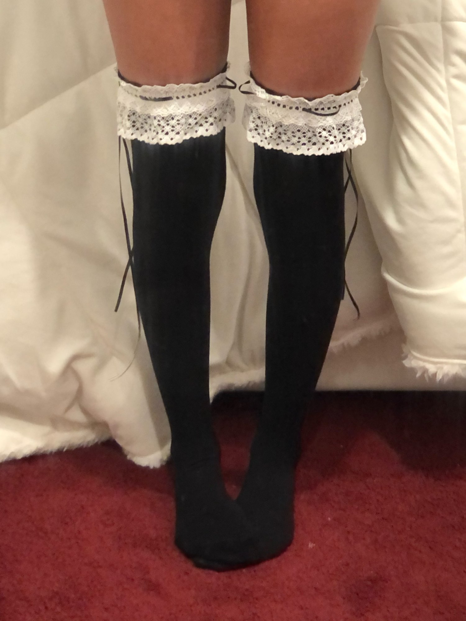 Lace Top High Socks Over Kne photo review