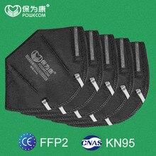 60/30/20/10 pces powecom ffp2 máscara de carvão ativado kn95 máscara protetora boca filtro anti-poeira máscara respirável boca cobertura muffle