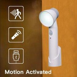 LED Nachtlicht Wand Garderobe Lampe Taschenlampe PIR Motion Sensor Notfall Tragbare Laternen AAA Batterie/USB Aufladbare