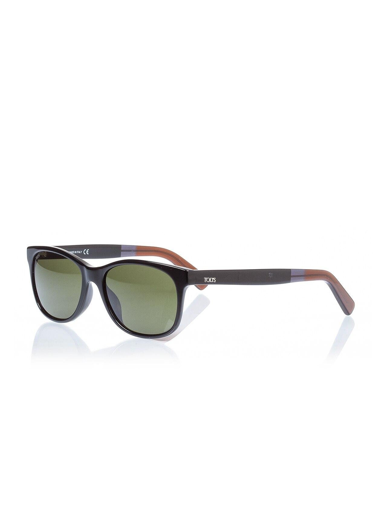 Men's Sunglasses To 0190 01n Bone Black Organic Rectangle Rectangular 55-17-145 Tods