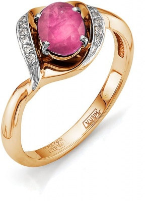Master Brilliant Ruby Diamond Ring In Red Gold