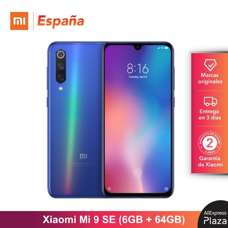 [Global Version For Spain] Xiaomi Mi 9 SE (Memoria Interna De 64GB, RAM De 6GB, Bateria De 3070mAh) Móvil