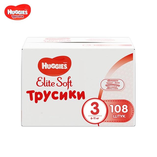 Трусики Huggies Elite Soft 6-11 кг (размер 3) 108 шт