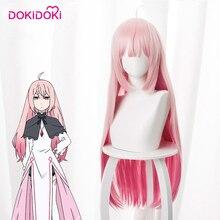DokiDoki Anime Cosplay Wig Demon Lord Retry Maou-sama Luna Women Pink Long Staright Hair