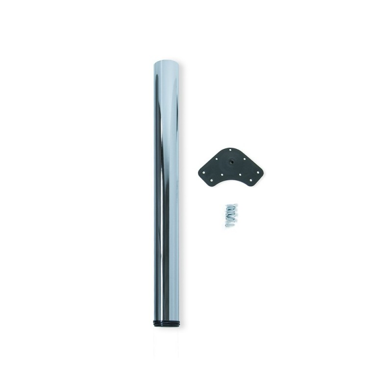 Table Leg Dimmable Emuca D. 80x710mm Chrome Steel