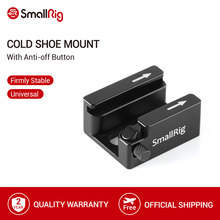 SmallRig Cold Shoe Mount Adapter with Anti-off Button For Camera Cage/Monitor/Handle/Plate With 1/4