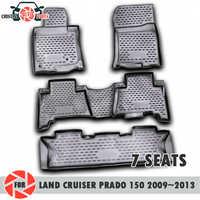 Tappetini per Toyota Land Cruiser Prado 150 2009 ~ 2013 7 SEDILI tappeti antiscivolo poliuretano sporco di protezione interni car styling