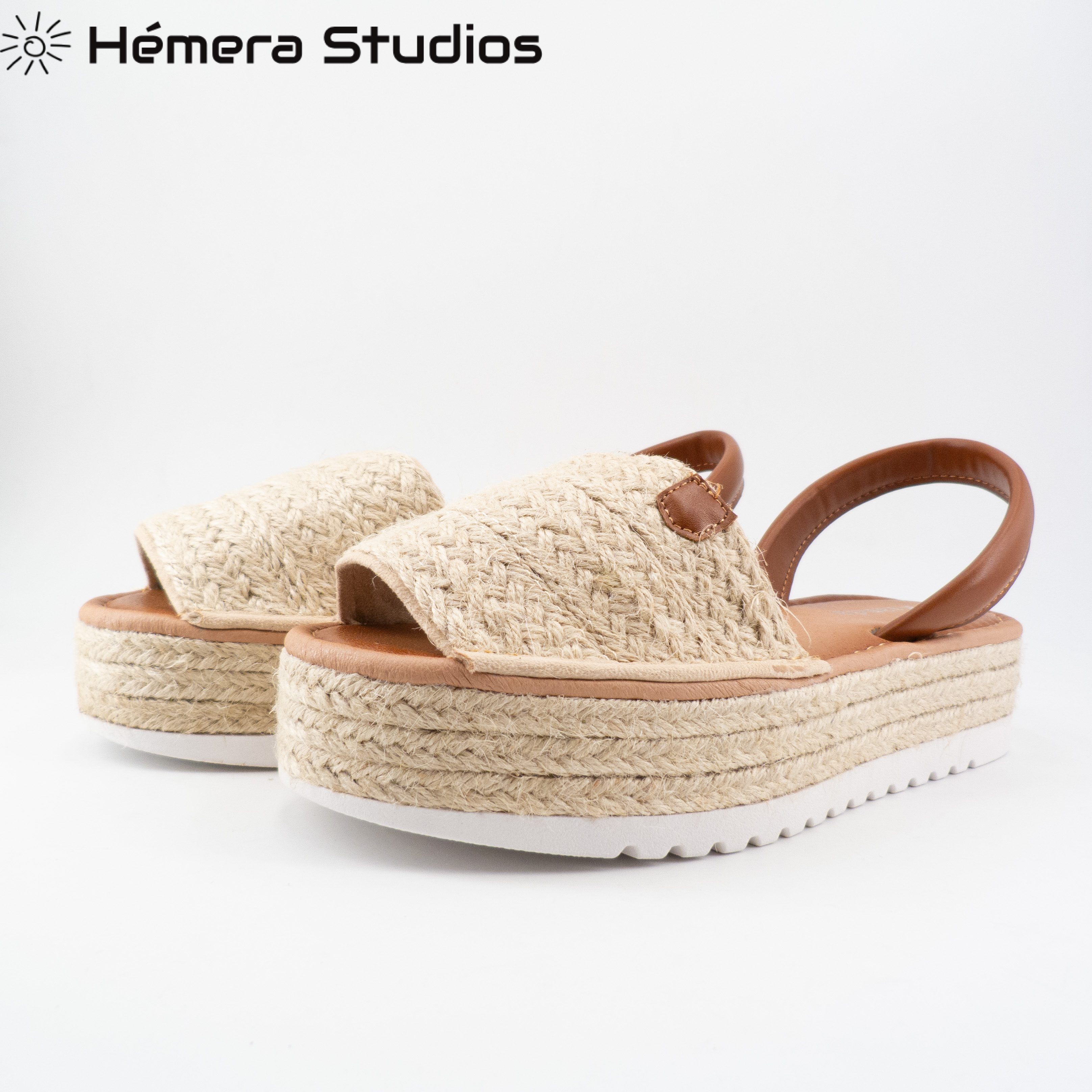 Woman Sandals 2020 Summer MENORQUINA ESPARTOS Buckle Platform Espadrille Wedge Beach Open Animal Print Multicolor