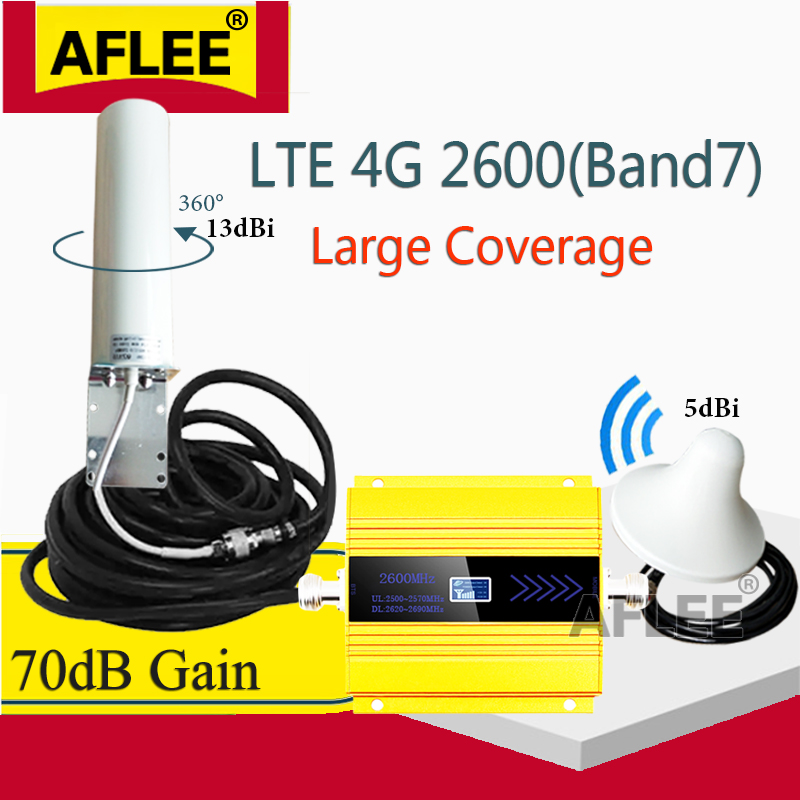 2600 Mhz 4g Signal Booster FDD LTE 2600mhz Band7 4G CellPhone Signal Repeater 2600 4G  Network Mobile Booster Cellular Amplifier