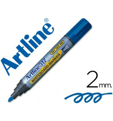 MARKER ARTLINE SLATE EK-517 BLUE-ROUND TOE 2 MM-INK LOW ODOR 12 Units