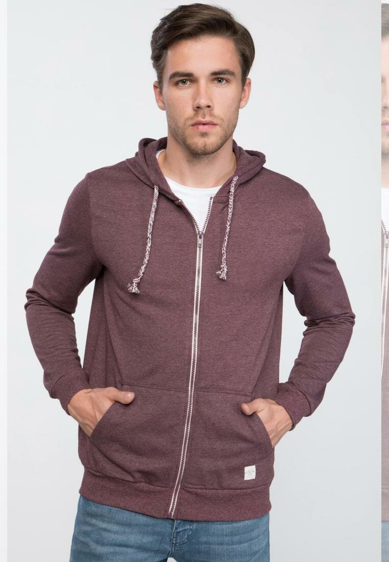 DeFacto Men Spring Autumn Solid Hooded Coat Casual Fashion Cotton Simple Joker Jacket Coat Tops  - G0175AZ18AU