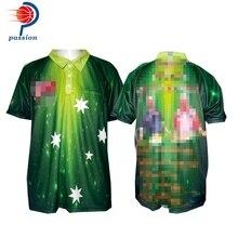 Высокое качество пользовательские сублимированные зеленая звезда Pro рубашки для игры в Дартс для команд