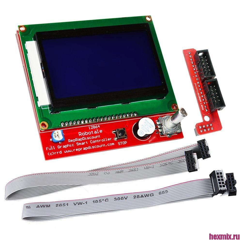 Full Graphic smart controller LCD screen 12864 for ramps|  - title=