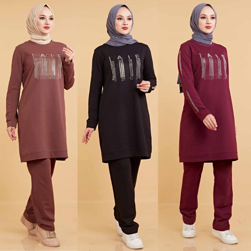 6XL 7XL Two Piece Sets Women Tracksuit Long Sleeve Top + Pants Jogging Over Plus Size Sporty Matching Suits 2021 Muslim Fashion