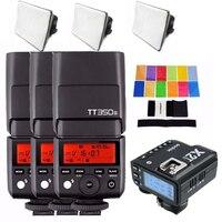 3X Godox Mini Speedlite TT350S Camera Flash TTL HSS GN36 + X2T S Transmitter for Sony A9 A7R3 A7M3 A7 III A7R2 A7M2 A6500 A6400