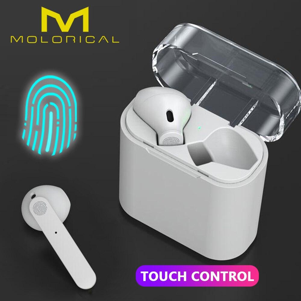 Наушники-вкладыши TWS Bluetooth V5.0 наушники беспроводные наушники стерео беспроводные наушники обеспечивают защиту от Smart Touch гарнитура для iPhone и...