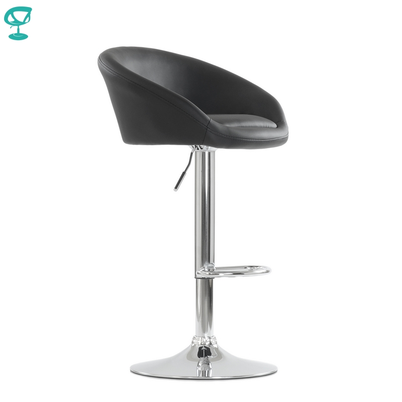 94667 Barneo N-311 Leather Kitchen Breakfast Bar Stool Swivel Bar Chair Black Color Free Shipping In Russia