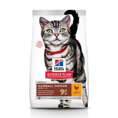 Hill's Science Plan Indoor Cat корм для взрослых кошек, живущих в домашних условиях, Курица, 300 г.