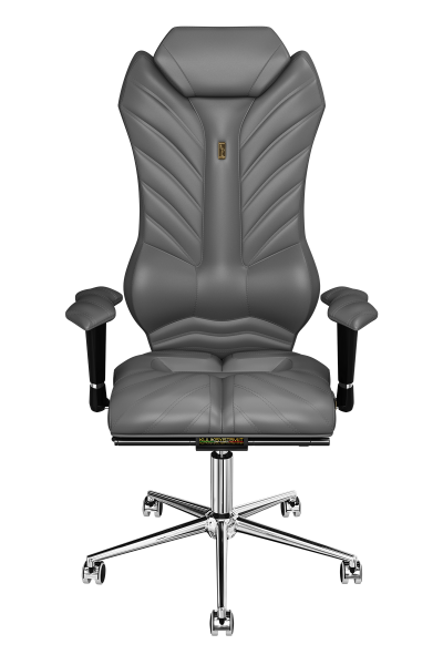 Office Chair KULIK SYSTEM MONARCH Gray Computer Chair Relief And Comfort For The Back 5 Zones Control Spine
