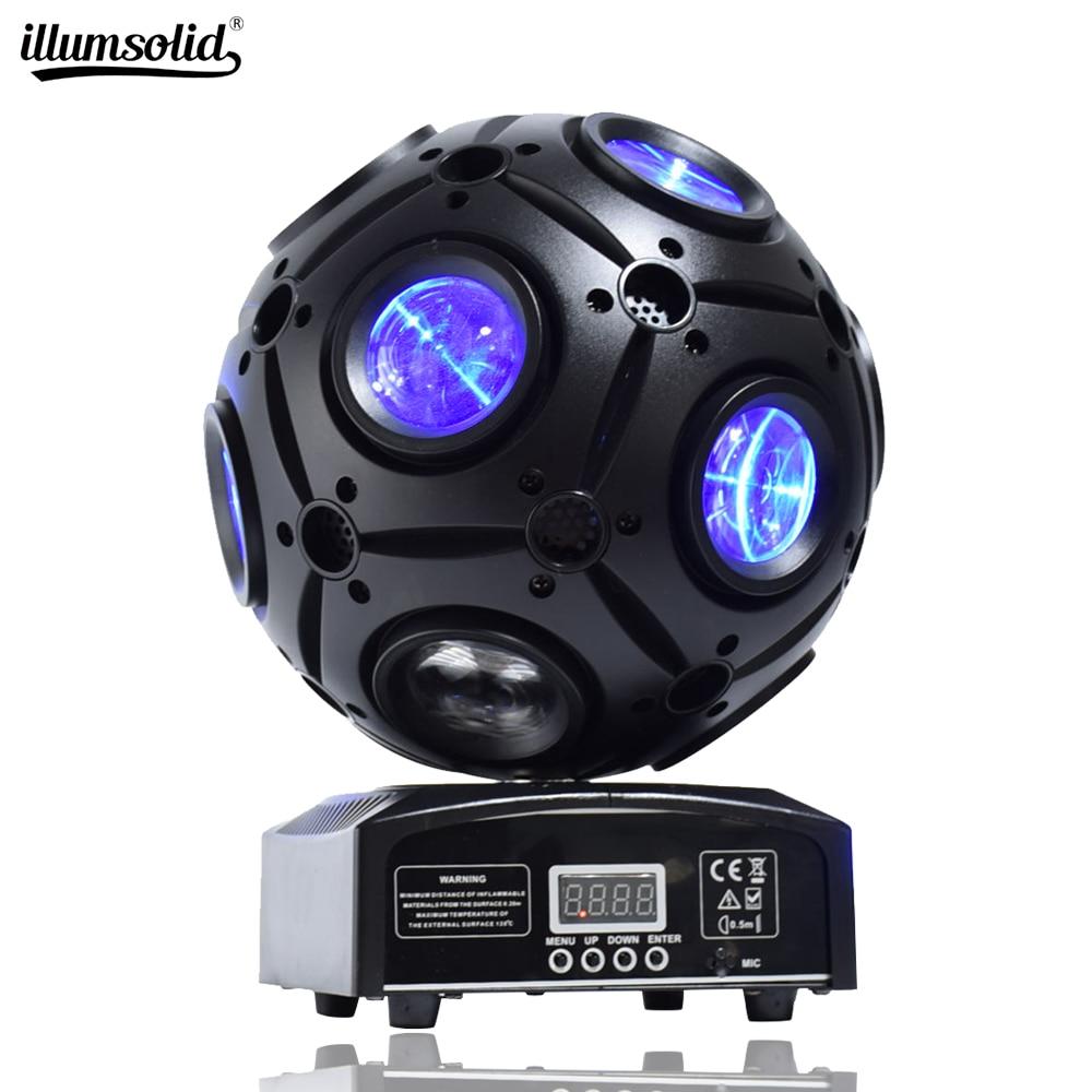 LED Moving Head Beam Strobe 4 In1 Football DMX Infinite Rotation LED Disco DJ Ball Light For Music Evening