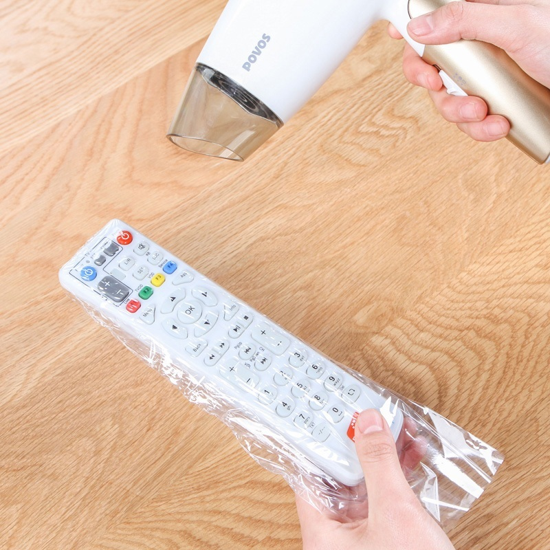 5pcs/set Heat Shrink Film Clear Video TV Air Condition Remote Control Protector Cover Home Waterproof Protective Case New