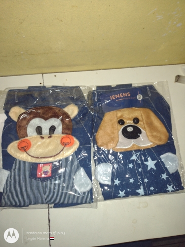 3D Puppy Baby Boy and Girl Denim Shorts Outfit photo review