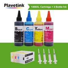 Plavetink PGI 1400XL yazıcı mürekkep kartuşu + 4 × 100ml şişe uyumlu mürekkep doldurma kitleri için Canon PGI 1400 MAXIFY MB2040 MB2140