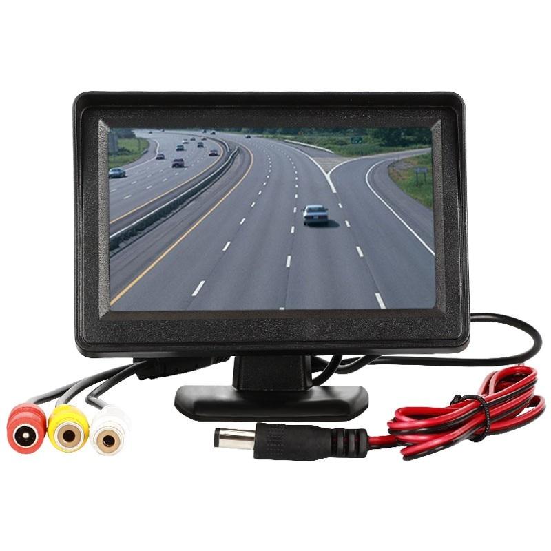 """4.3 """"samochodowy odtwarzacz wideo monitory samochodowe dla samochodów widok z tyłu kamera 2 kanał wideo LCD Monitor TFT cofania Full HD Monitor samochodowy NTSC PAL AV"""