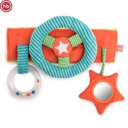 330668, le jouet en développement Happy Baby, vous vous écrasez, sur un papier volant, avec un petit miroir, multicolore