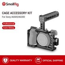 Smallrig gaiola de câmera protetora a6500 com alça superior + braçadeira de cabo hdmi para sony a6500/a6300 dslr gaiola conjunto 1968