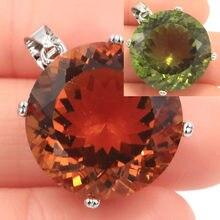 Ensemble de gros bijoux spéciaux, pierres précieuses rondes de 20mm, pendentif en argent, spinelle à couleur changeante, Zultanite, 30x20mm