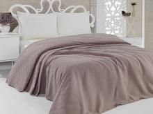 BuanArt Coffee Double Cotton Pique, 200x230cm Measured Pique, 100% Cotton Pique ultra Soft Structure Sleep Comfort