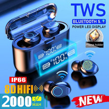 Cewaal Wireless Bluetooth Earphone with Mic TWS Sports Waterproof Headphone Touch