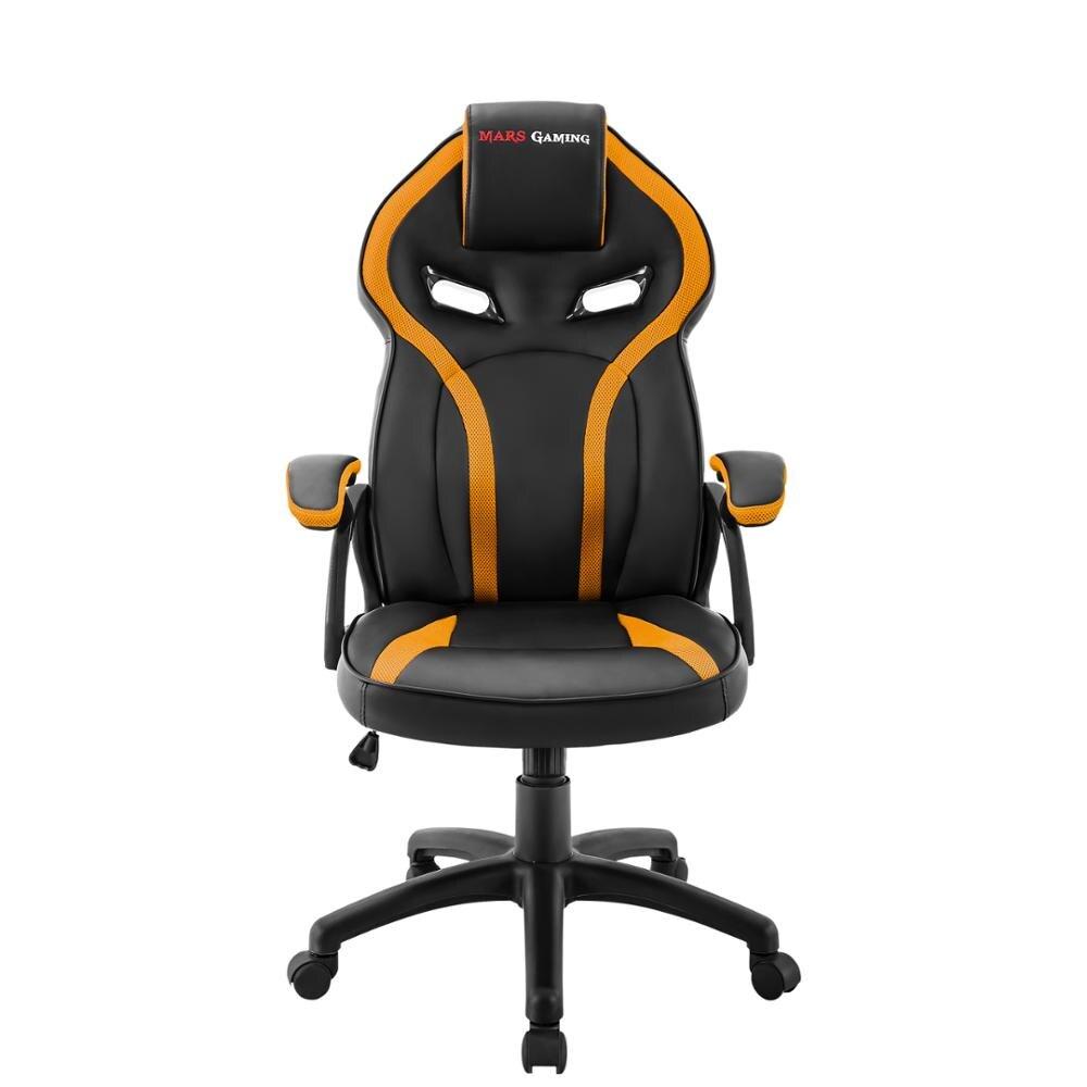 Mars Gaming MGC118, Chair Gaming Ergonomic, Dimmable, PU Coating, Yellow