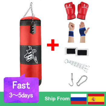 Empty Boxing Sandbag Home Fitness Hook Hanging Kick Punching Bag Boxing Training Fight Karate Punch Muay Thai Sand Bag 1