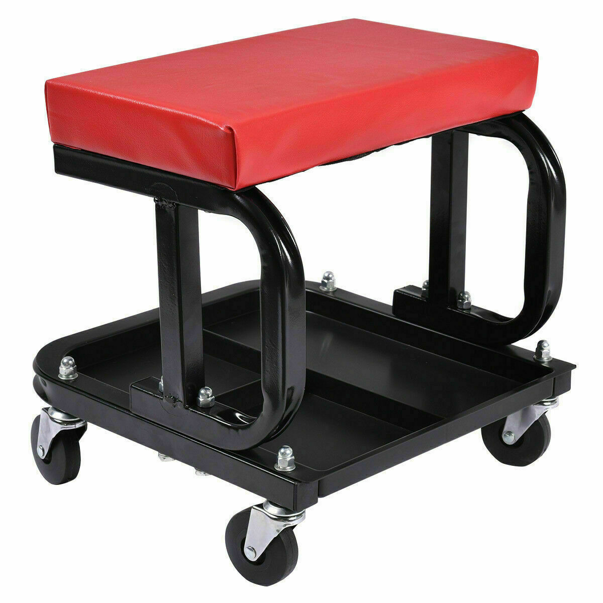 Chair Mechanical Workshop With 4 Wheels With Tray Tools Repair Vehicles