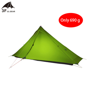 3F UL GEAR Lanshan 1 pro Tent Oudoor 1 Person 3 Season Professional 20D Silnylon Rodless Tent Ultralight Camping Tent