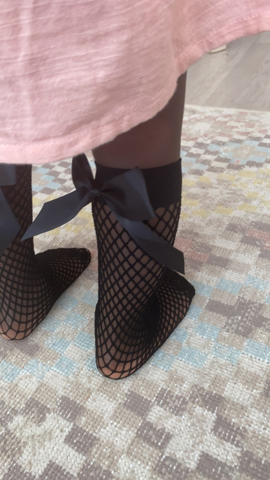 2Pair Women Baby Girls Kids Mesh Socks Bow Fishnet Ankle High Lace Fish Net Vintage Short Sock Fashion Summer One Size photo review