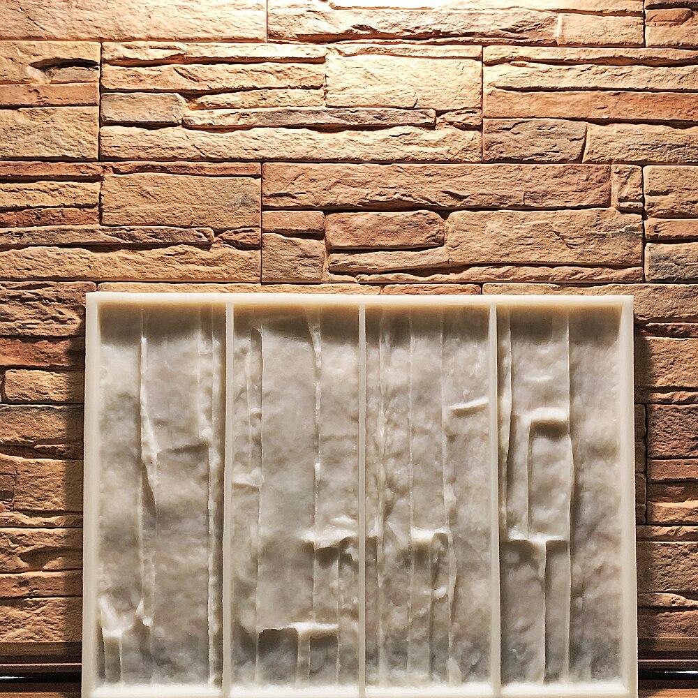 Форма для искусственного камня сланец, полиуретановая, для изготовления декоративной настенной плитки из гипса, цемента, бетона