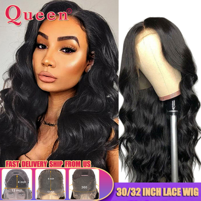 Body Wave Lace Front Human Hair Wigs Brazilian 30 32 Inch Body Wave Wig 360 HD Lace Frontal Wig For Black Women Queen Hair Wigs